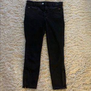 Express Black High Rise Jeans with Zippers